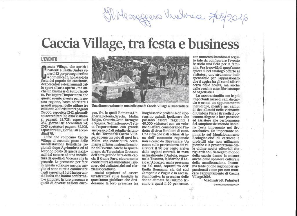 caccia village tra festa e business